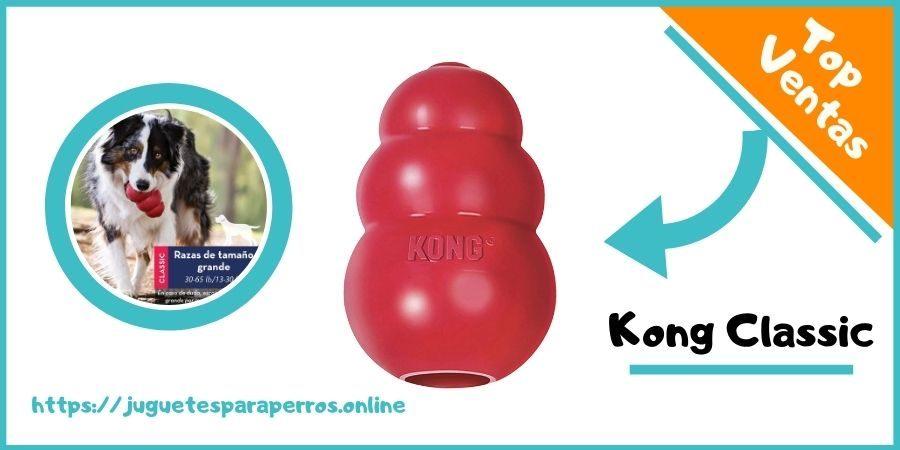 kong classic juguete para perros resistente de caucho natural para morder para perros grandes