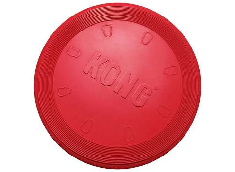 kong flyer frisbee de caucho resistente para perros beagle